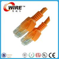 Buy cheap CAT6 Utp Ethernet Network Patch Cable ,  Orange Communication Ethernet Cable Cord product