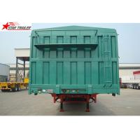 Steel 60T Side Wall Trailer , High Intension Trailer With Folding Sides