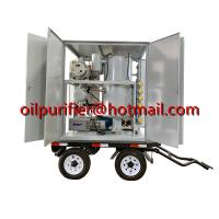 China Mobile transformer oil filtration plant, weather-proof transformer oil purification equipment mounted with car wheels on sale