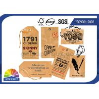 Buy cheap Kraft Paper Board Packaging Accessories Printed apparel hang tags Swing Tickets product