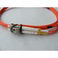 China Multimode LC Simplex Duplex Optical Fiber Patch Cords 50/125 62.5/125 LC-LC on sale