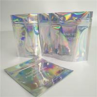 Buy cheap Stand Up Cosmetic Pouch Makeup Bag Fashion Clear Shinny Bag Pouch Holographic Hologram Cosmetic Bags product