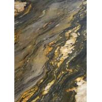 Buy cheap Golden Brocade Marble Stone Slab Big Tile Custom Size For Stair / Countertop product