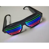Buy cheap 2019Hot Sales New Style Voice-Activated LED flashing glasses Multi Colors Led RechargeableEye Glasses Led Party Glasses product