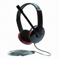 Buy cheap Headset with 20Hz to 20KHz FR, 25mW Power, 3.5mm Plug, 30mm Driver, 6.5mm Microphone, 2m Cable product