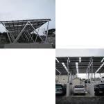 Buy cheap Solar Power Parking Lot Aluminum Rail Ground Mount Solar Array Solar Parking Lot product