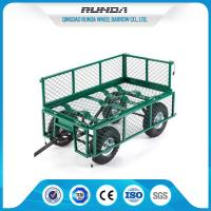 Buy cheap Heavy Duty Garden Cart Trolley Four Wheels 500kgs Load Capacity Air Wheel product
