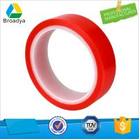 Buy cheap polyethylene double side adhesive roll tape with Mopp red film liner product