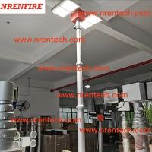 Buy cheap 6m pneumatic telescopic mast lighting tower 4x180W LED lights- fire tender mounted telescopic mast light product