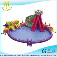 Buy cheap Hansel Giant Inflatable Floating Water Park , Inflatable Water Games For Adults product