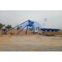 Buy cheap HZS50 Skip Hopper Stationary Concrete Batching Plant / High Precision Mixing Plant product