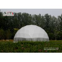 Buy cheap Dia 30m Transparent PVC Geodesic Dome Tents Steel Frame For Outdoor Exhibition product