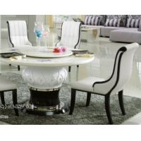 Buy cheap club 8 persons round marble table with Lazy Susan product