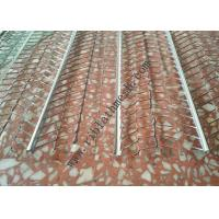 V Type Reinforced Rib Lath Mesh , 610mm Width 0.3mm Thickness Galvanized Metal Lath