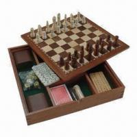 Buy cheap Chess Set, Measures 32 x 32 x 5.3cm, Made of Rubber Wood product