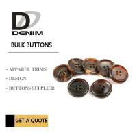 Buy cheap Shiny Matt Black Brown Bulk ing Buttons Sourcing 4 Holes With Pattern Design product