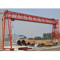 Buy cheap Motor Travelling Gantry Crane With Electric Hoist , Truss Type Gantry Lift product