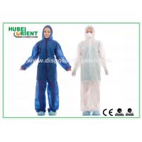 Buy cheap Waterproof Disposable Coveralls with Hood , Nonwoven Breathable Stripping product