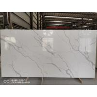 Buy cheap Gray Vein Calacatta Gold Quartz That Looks Like White Artificial Marble China factory product