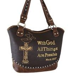 Buy cheap western rhinestone cross purse /handbags with bible verse product