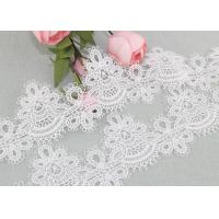 China 6cm Width Water Soluble Lace Polyester Lace For Clothing Azo Free on sale