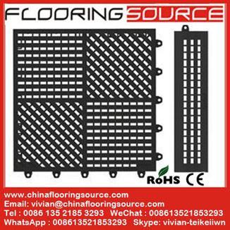 Quality Interlocking pvc wet area mat locker room mat bathroom mat drain water mat for sale