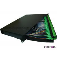 Buy cheap Rotate Type 48 Port Fiber Optic Patch Panel With SC APC Fiber Optic Pigtail product