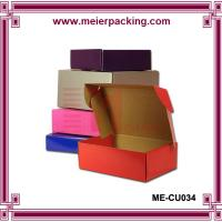 Buy cheap Color printed corrugated paper shoes mailing box/Popular design rigid corrugated packaging box ME-CU034 product