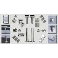 Buy cheap Bathroom Toilet Cubicle Hardware Cubicle Partition Accessories Stainless Steel from wholesalers