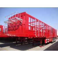 Buy cheap 3 Axle CIMC Side Fence Cargo Transport Semi Tractor Trailer for Africa Market product