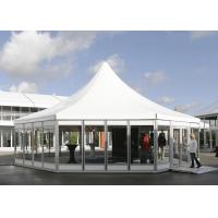 Buy cheap Hexagon Clear Span Pagoda Canopy Party Tent , Clear Span Steel Buildings product