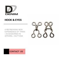 Buy cheap 8mm Brass Hook And Eye Non Slip Nickel Free For Dress / BRA / Trousers product