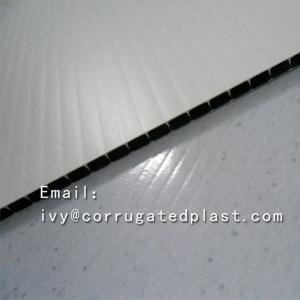 China Custom size pp coroplast black plastic sheet for floor protection on sale
