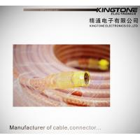 Buy cheap RG6 Copper Conductor CATV Coaxial Cable with Golden F Connector for Antennas product