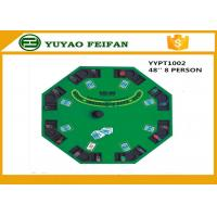 Buy cheap 48 Inch 8 Person Poker Table MDF Casino Blackjack Poker Table Custom Poker Table Tops product