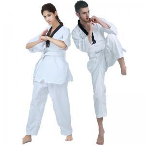 China Custom WTF ribbed material taekwondo uniform  black belt taekwondo GI WTF Taekwondo Dobok/Suit/ on sale
