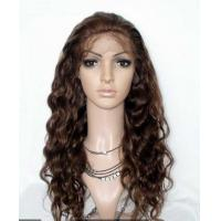 China Kinky Curly Remy Human Hair Lace Front Wigs Adjustable Straps No Tangling on sale