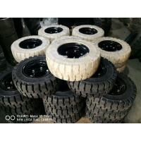 Buy cheap Solid Forklift Tires 10 - 28 Forklift Spare Parts Low Speeding High Pressure Performance product