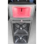 Buy cheap dual 18'' horn-loaded speaker with 3'' top speaker 1.6 meter height pro audio subwoofer power audio loudspeaker system product