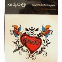 Quality Nontoxic Tattoo Sticker, Made of PVC and PE Materials, OEM Orders are Welcome for sale