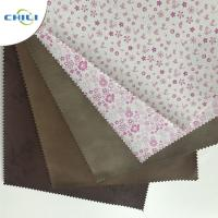 Buy cheap Embossed  PU Leather Fabric Advanced Technology Thick  Polyestermaterial product