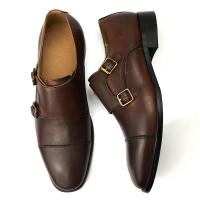 China Cow Leather Dress Shoes Summer Men Oxford Shoes with Double Buckle on sale