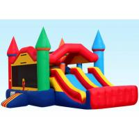 Buy cheap Party City Inflatable Bouncer Combo , Inflatable Bounce House Dual Castle product