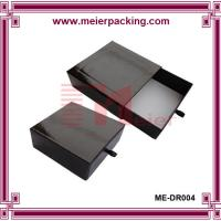 Buy cheap Black gift paper drawer box with leather tie, gift packaging box for tea ME-DR004 product