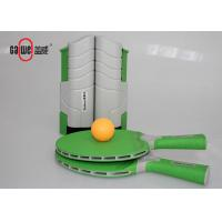 Green Kids Table Tennis Set , Waterproof On The Go Ping Pong Travel Set