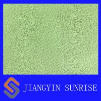 Buy cheap Waterproof PU Synthetic Leather , Green Faux Leather Fabric 0.9mm Thickness product