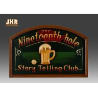 Buy cheap Dark Green Club Wooden Wall Signs Antique Wall Art Signs Golf Club Wall Decor product