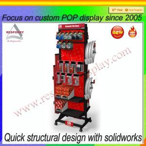 China 2015 wholesale custom new product rotating metal display stand display rack on sale