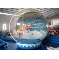 China Transparent Outdoor Inflatable Tent for Advertising Decoration / inflatable christmas snow globe on sale