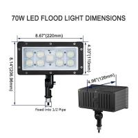 Buy cheap AC100-277V Slim LED Flood Light Outdoor Knuckle Mount 45w Aluminum / Glass Shell product